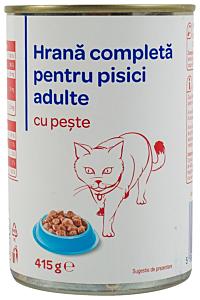 Hrana pentru pisici adulte cu peste Carrefour 415G