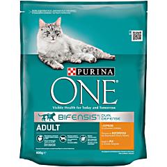 Hrana uscata pentru pisici cu pui Purina ONE Adult 800g