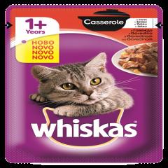 Hrana umeda pentru pisici, Whiskas Casserol, Vita ,85 g