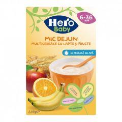 Hero Baby mic dejun multicereale cu fructe si lapte 225 g
