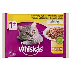 Hrana umeda pentru pisici adulte Whiskas, selectii mixte, 4 x 100 g