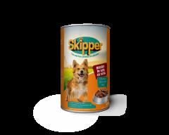 Hrana umeda pentru caini cu vita Skipper 415g