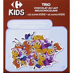 Biscuiti trio cu ciocolata si lapte Carrefour Kids 225 g