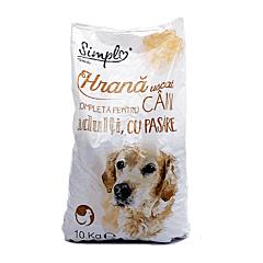 Hrana uscata completa pentru caini adulti, cu pasare, Simpl, 10 kg