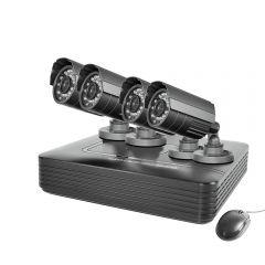 Kit supraveghere video PNI House PTZ1000, DVR si 4 camere exterior, senzor CMOS,