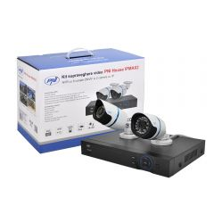 Kit supraveghere video PNI House IPMAX2 - NVR 12CH 960P ONVIF si 2 camere IP 720P incluse