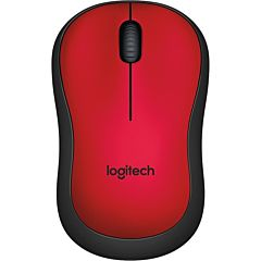 Mouse Logitech M220 Silent, Wireless, Rosu