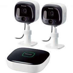 Kit Home Monitoring KX-HN6002FXW Panasonic, Compatibil iOS/Android, Wi-Fi, Alb