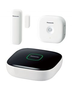Kit Home Safety Starter KX-HN6010FXW Panasonic, Smart, Wi-Fi, Supraveghere si securitate casa, Android/iOS