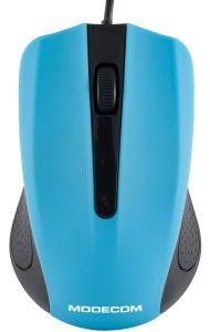 Mouse cu fir M9 Modecom, 3 butoane, Optic, Albastru