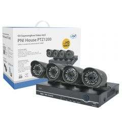 Kit supraveghere video AHD PNI House PTZ1200 Full HD - NVR si 4 camere