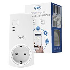 Priza inteligenta PNI SmartHome SM1500 programabila WiFi, compatibila cu Google Home, Alexa si aplicatie iOS/Android TuyaSmart