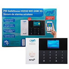 Sistem de alarma wireless PNI SafeHouse HS550 Wifi GSM 3G cu monitorizare si alerta prin Internet,SMS, apel vocal