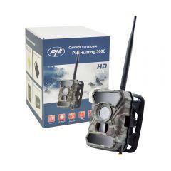 Camera vanatoare PNI Hunting 300C cu INTERNET 3G 12MP Night Vision transmite foto la detectie miscare, pe email, FTP, full HD 1080P, 56 leduri invizibile pentru animale
