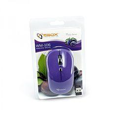 Mouse wireless WM-106 purple Sbox