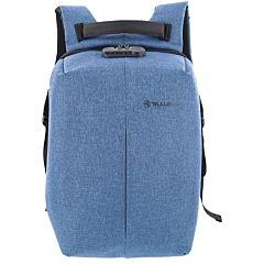 Rucsac laptop antifurt Tellur V2, 15.6, port USB, Albastru