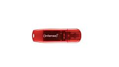 USB 2.0 Intenso Rainbow Line, 128GB, Rosu