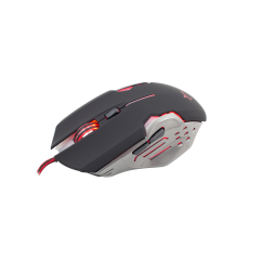 Mouse gaming Attila GM-1803 B/S White Shark, Negru/Argintiu, 3200 DPI