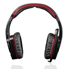 Casti gaming Modecom Volcano MC-829 Alien, Red/Black