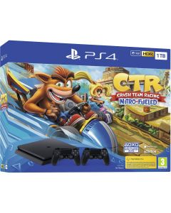 Consola PlayStation 4, 1TB + Joc Crash Team Racing + Extra Controller