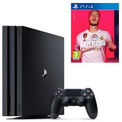 Consola PlayStation 4 Pro, 1 TB + Joc FIFA 20, Black