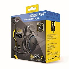 Casti gaming Steelplay HP71, Jack si USB, compatibil PS4, Xbox, Nintendo si PC, Negru