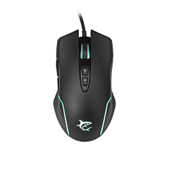 Mouse White Shark GM-5003 AZARAH, RGB, 6.400 dpi, Negru