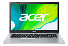 Laptop Acer Aspire A517-52-720S, procesor Intel Core i7-1165G7 pana 2.8 GHz, ecran 17.3 Full HD, 16 GB DDR4, 1 TB HDD + 256 GB SSD, Intel Iris Xe Graphics, Windows 10 Pro, Silver