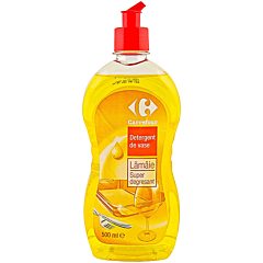 Detergent de vase lamaie, super degresant, Carrefour 500ml