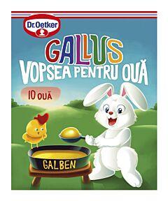Vopsea granulata galben Gallus pentru 10 oua