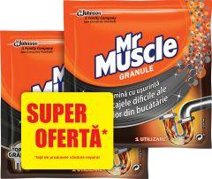 Granule pentru desfundat tevi Mr Muscle, 2x50g