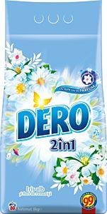Detergent automat pudra Dero 2 in 1 Iris alb, 80 spalari, 8 kg