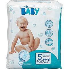 Scutece junior Carrefour Baby, nr.5, 12-25 kg, 44 bucati