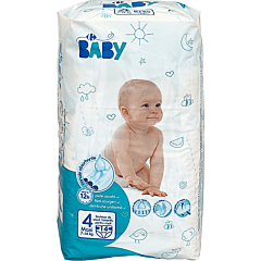 Scutece de unica folosinta maxi, Carrefour Baby, 17-18 kg, 4 bucati