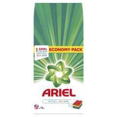 Detergent automat pudra Ariel White and Color, 130 spalari, 13 kg