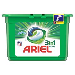 Detergent automat caspule Ariel All in One PODS Mountain Spring 15 spalari
