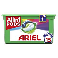 Detergent automat caspule Ariel All in One PODS Color 15 spalari