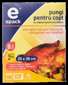 Pungi pentru copt Epack, 8 buc per pachet