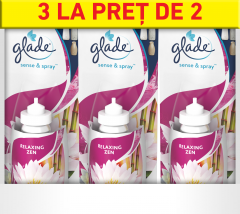 Rezerva Glade Sense&Spray Relaxing Zen, 3x18ml