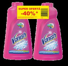 Solutie indepartare pete Vanish Pink, 1L + Solutie indepartare pete Vanish Pink, 1L