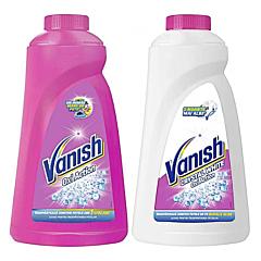 Pachet solutie indepartare pete Vanish Pink 1l si solutie indepartare pete Vanish White 1l