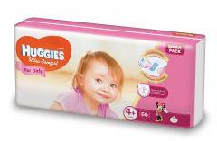 Scutece Huggies Ultra Comfort, nr 4+, 10-16 kg, Mega, 60 buc, pentru fetite