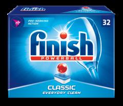 Detergent tablete pentru masina de spalat vase Finish Clasic, 32 buc