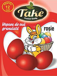 Vopsea granulata rosu Take pentru 12 oua