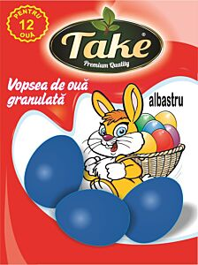 Vopsea granulata albastru Take pentru 12 oua