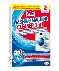 Tratament anticalcar K2r Washing Machine Cleaner, 2 buc