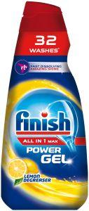 Detergent gel pentru masina de spalat vase Finish All in One Max Lemon, 650 ml