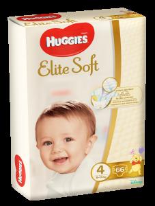 Scutece Huggies Elite Soft, nr 4, 8-14 kg,  Mega, 66 buc