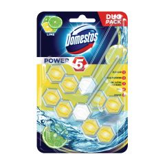 Odorizant vas toaleta Domestos Power 5 Lime, 2 x 55 gr
