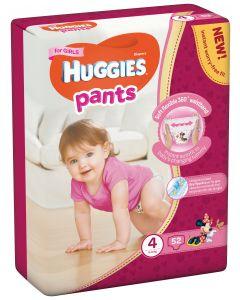 Scutece chilotel Huggies Pants, nr 4, 9-14 kg, Mega, 52 buc, pentru fetite